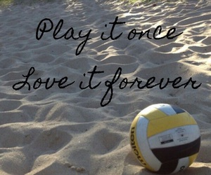 love it forever, volleyball, and play it image