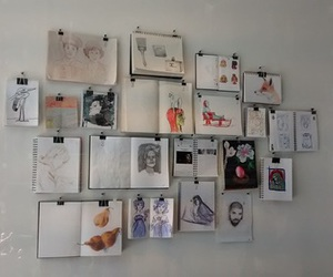 drawings, pictures, and wall image