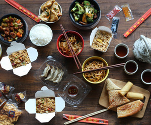 chinese, chinese food, and chinese takeout image