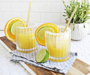drink, food, and margarita image