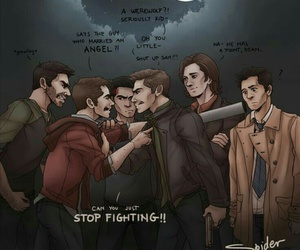 supernatural, sterek, and castiel image