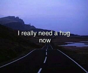 hug, sad, and quotes image