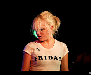 blonde, friday, and rock image