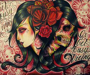 head and sugar skull image