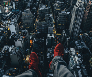 city, night, and shoes image