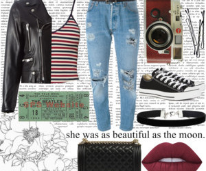 fashion, lipstick, and outfit image