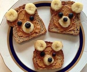 food, bear, and banana image
