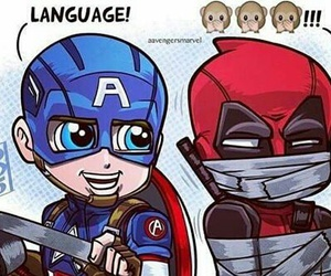 language, deadpool, and Avengers image