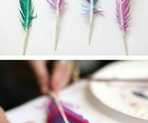 diy, feather, and art image
