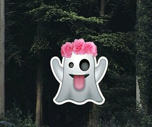 ghost, wallpaper, and emoji image