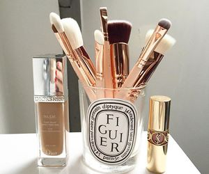 Brushes, beauty, and lipstick image