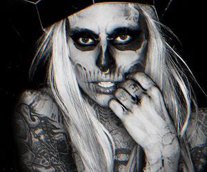 Lady gaga, gaga, and skull image