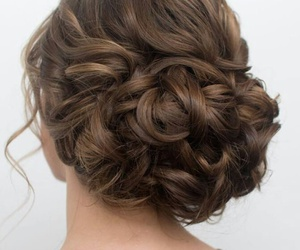 braid, dress, and hair image