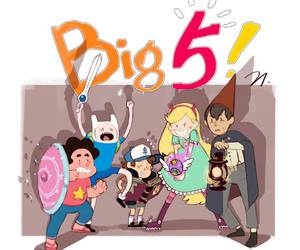 star, finn the human, and dipper pines image