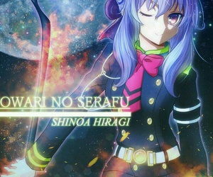 anime girl, owari no seraph, and shinoa hiragi image