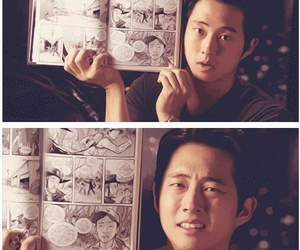 the walking dead, steven yeun, and comic image
