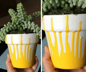 diy, do it yourself, and terracotta pots image