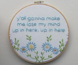 art, Lyrics, and embroidery image
