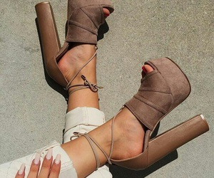 beautiful, brown, and shoes image