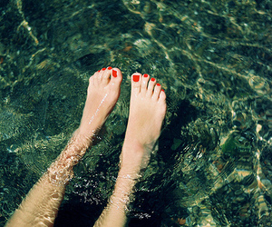 feet, water, and nails image