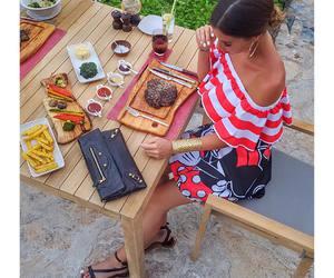 bag, breakfast, and brunette image