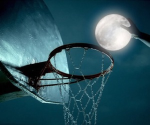 moon, Basketball, and night image