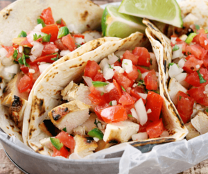 Chicken and tacos image