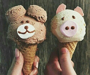 ice cream, food, and animal image