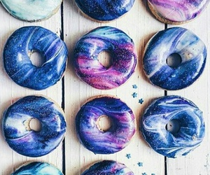 donuts, food, and galaxy image
