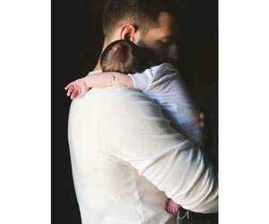 baby, father, and man image