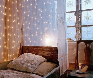fairy lights and voile image