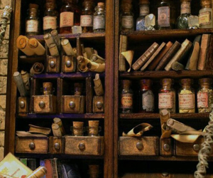 potions, book, and magic image