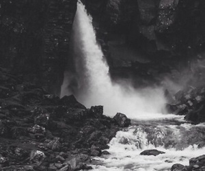 black and white, waterfalls, and backgrounds for iphone image