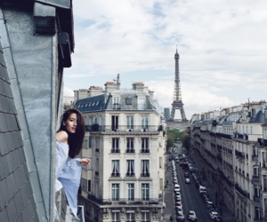 girl, paris, and city image