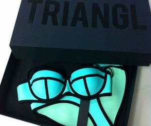 summer, triangl, and fashion image