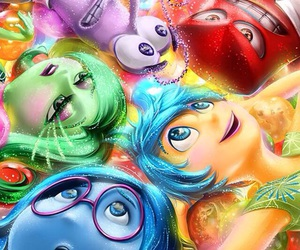 inside out, cartoon, and disney image