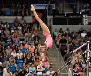 bars, gymnast, and gymnastics image