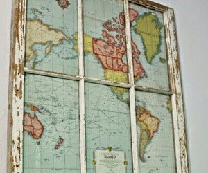 diy, home deco, and map image