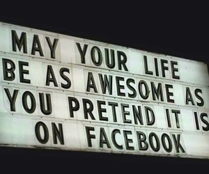 quote, awesome, and facebook image