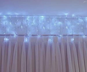 light, blue, and stars image