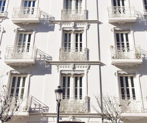 architecture, balconies, and Blanc image