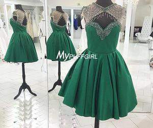 cocktail dress, homecoming dress, and green image