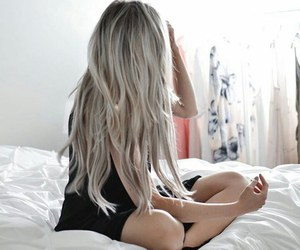 bed, girl, and hairstyles image