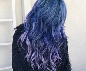 crazy, fashion, and purple hair image