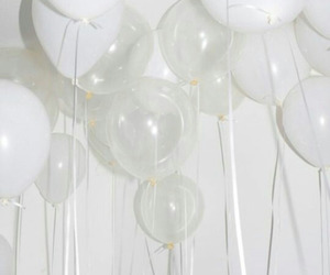 white, balloons, and aesthetic image