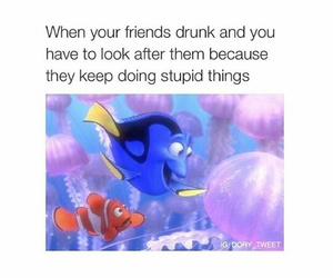 drunk, friends, and funny image