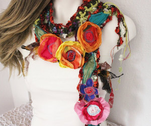 accessories, etsy, and colorful flowers image