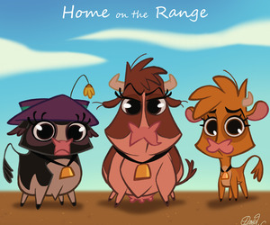 disney and home on the range image