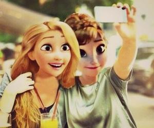 selfie, disney, and rapunzel image