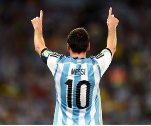 messi, argentina, and football image